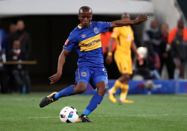 Cape Town City midfielder Thabo Nodada