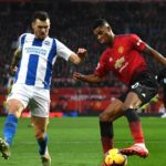 Marcus Rashford of Manchester United and Pascal Gross of Brighton