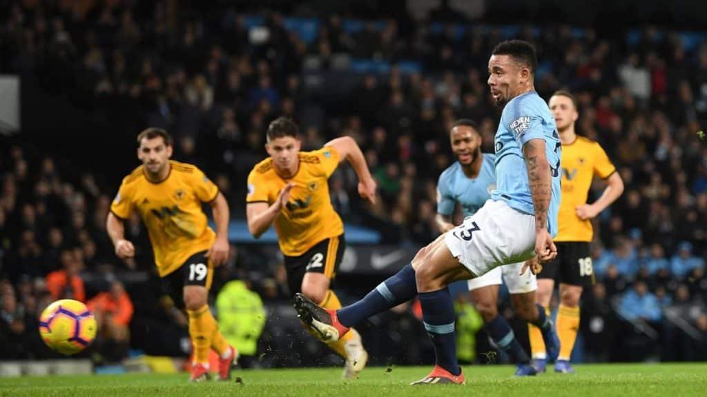Man City cruise past 10-man Wolves