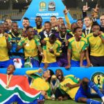 Mamelodi Sundowns celebrate after winning the 2016 CAF Champions League