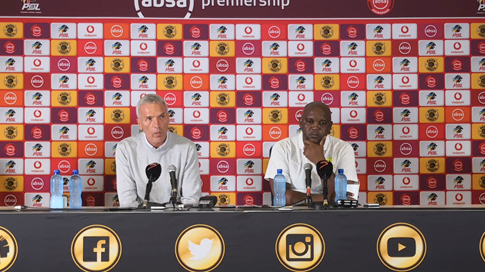 Ernst Middendorp coach of Kaizer Chiefs and Pitso Mosimane coach of Mamelodi Sundowns.
