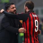Gennaro Gattuso and Gonzalo Higuain