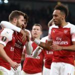 Mustafi, Sokratis on target as Arsenal breeze through