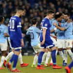10-man City strike late through Sane,Sterling