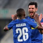 Thabo Nodada and Roland Putsche of Cape Town City