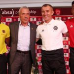Willard Katsande and Ernst Middendorp of Kaizer Chiefs and Milutin Sredojevic of Orlando Pirates
