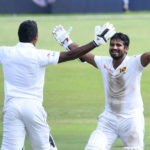 Vishwa Fernando and Kusal Perera celebrates