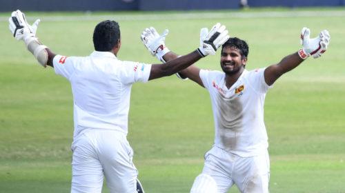 Vishwa Fernando and Kusal Perera celebrates