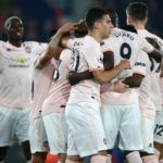 Romelu Lukaku celebrates with his Manchester United teammates