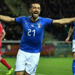 Euro wrap: Quagliarella makes history in Azzurri romp
