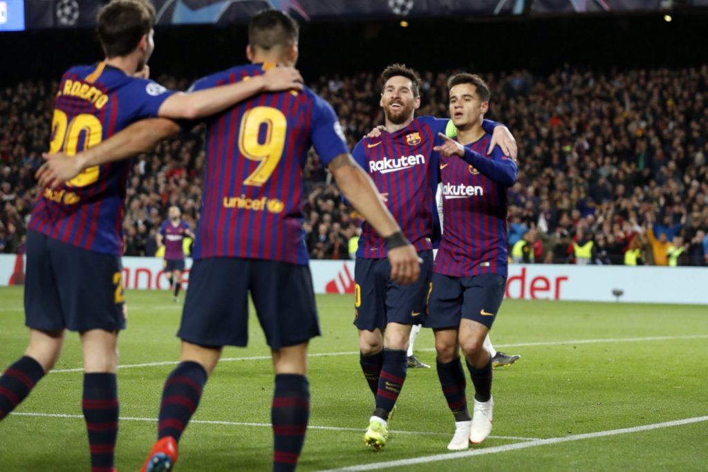 Messi shines as Barca move into UCL quarters