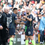 Manchester City's Sergio Aguero substituted for Gabriel Jesus