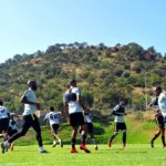 Kaizer Chiefs players in training