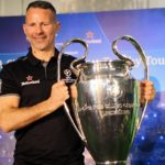 Ryan Giggs with the Uefa Champions League trophy