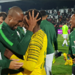 Bafana Bafana celebrate after securing qualification for the 2019 African Cup of Nations