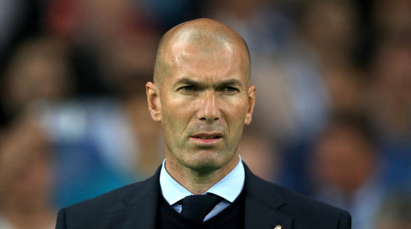 Real Madrid's coach Zinedine Zidane