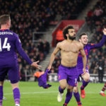 Liverpool's Mohamed Salah celebrates scoring