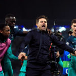 Tottenham Hotspur's Kyle Walker-Peters, manager Mauricio Pochettino and Ben Davies celebrate after the UEFA Champions League quarter final second leg against Manchester City