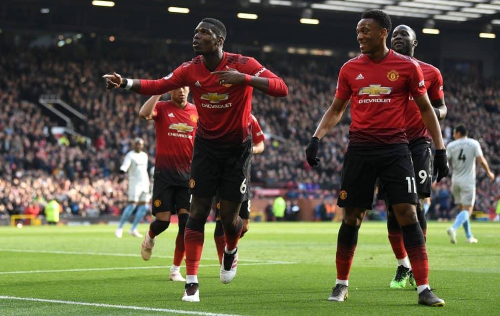 Two Pogba penalties send Man Utd fifth