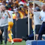 Ernst Middendorp, coach of Kaizer Chiefs celebrates a goal during the 2019 Nedbank Cup quarter-final match against Cape Town City