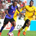 Bernard Parker of Kaizer Chiefs and Tshwarelo Bereng of Black Leopards