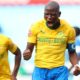 Mamelodi Sundowns captain Hlompho Kekana celebrates his goal with Themba Zwane