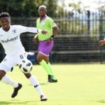 Thabang Monare of Bidvest Wits and Ben Motshwari of Orlando Pirates