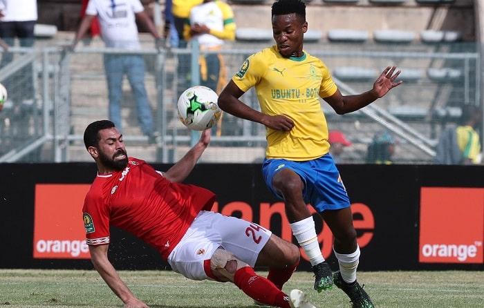 Themba Zwane of Mamelodi Sundowns vs Al Ahly