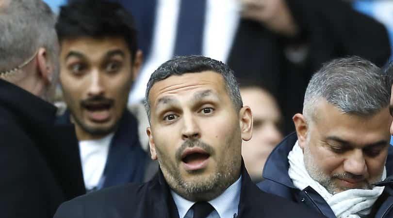 Manchester City chairman Khaldoon Al Mubarak in the stands