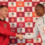 Milutin Sredojevic coach of Orlando Pirates and Khama Billiat of Kaizer Chiefs