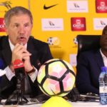 Stuart Baxter, coach of South Africa and David Notoane, coach of South Africa U23