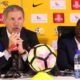 Stuart Baxter, coach of South Africa and David Notoane, coach of South Africa U23