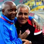 Pitso Mosimane, head coach of Mamelodi Sundowns and Faouzi Benzarti, head coach of Wydad Athletic Club