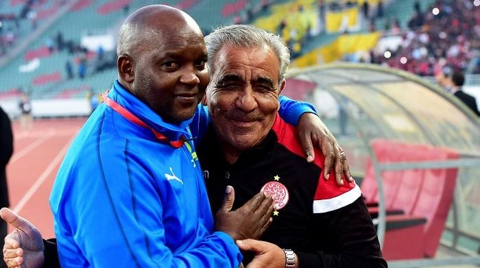 Pitso Mosimane, head coach of Mamelodi Sundowns and Faouzi Benzarti, head coach of Wydad Athletic Club