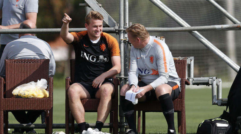 Ronald Koeman and Matthjis de Ligt