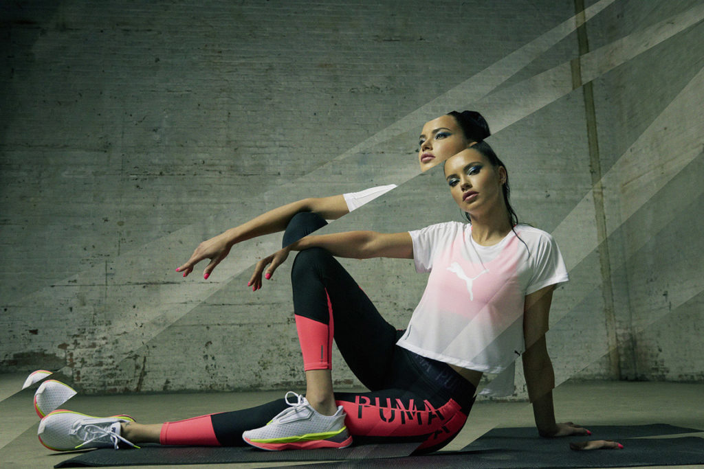 Adriana Lima shatters stereotypes with the all new Puma LQD cell shatter