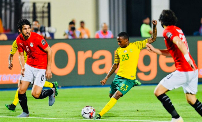 Thembinkhosi Lorch of Bafana Bafana