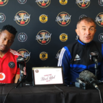 Orlando Pirates coach Milutin Sredojevic and captain Happy Jele