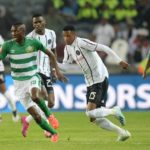 Lucky Baloyi of Bloemfontein Celtic and Vincent Pule of Orlando Pirates