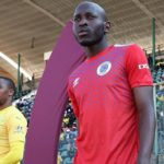Aubrey Modiba of SuperSport United walking out to face Mamelodi Sundowns