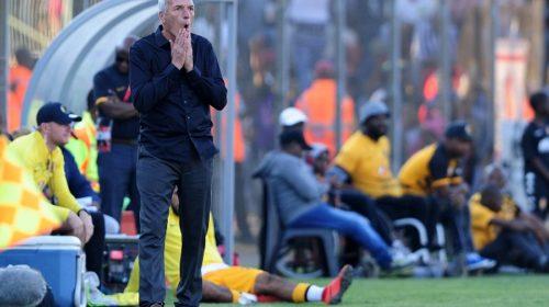 Ernst Middendorp, head coach of Kaizer Chiefs