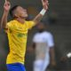 Gaston Sirino of Mamelodi Sundowns celebrates goal during the CAF Champions League match between Mamelodi Sundowns and AS Otoho Doyo