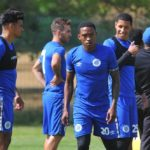Supersport United players during training ahead of the MTN8 final