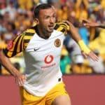Samir Nurkovic of Kaizer Chiefs celebrates goal during the Absa Premiership match between Mamelodi Sundowns and Kaizer Chiefs