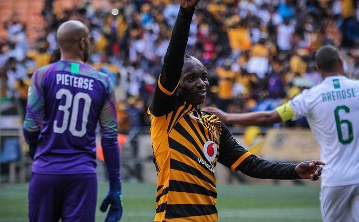 Khama Billiat of Kaizer Chiefs celebrates a goal During the 2019 Shell Helix Cup match between Kaizer Chiefs and Mamelodi Sundowns