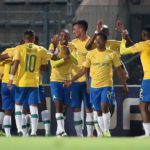 Mauricio Affonso of Mamelodi Sundowns and his teammates celebrate Samuel Shivambu/BackpagePix