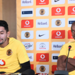 Willard Katsande and Leonardo Castro of Kaizer Chiefs