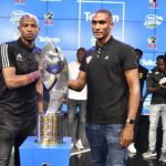 Xola Mlambo of Orlando Pirates and Mogamad de Goede of Stellenbosch FC