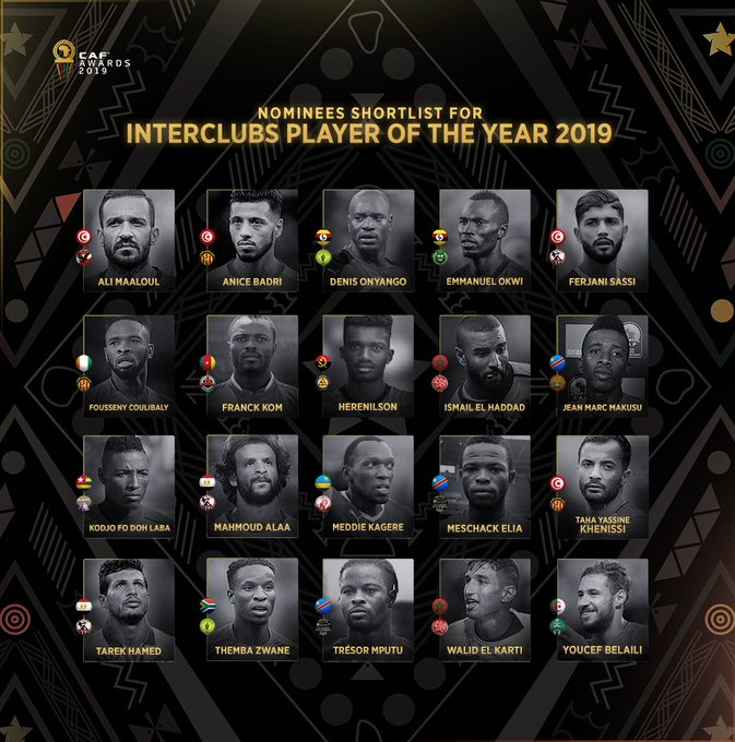 Onyango, Zwane nominated for African Interclubs Player of the Year