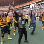 Kaizer Chiefs players celebrate their victory over Orlando Pirates